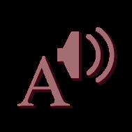 Imagem com o símbolo de acesso ao conteúdo em português