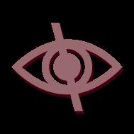 Imagem com o símbolo de acesso ao conteúdo para deficientes visuais