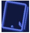 Ícone de um tablet e uma seta