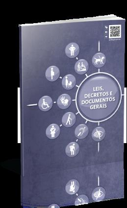 Capa da Publicação em azul com logo da Organização das Nações Unidadas circundada por ícones de pessoas com deficiência e título embaixo.